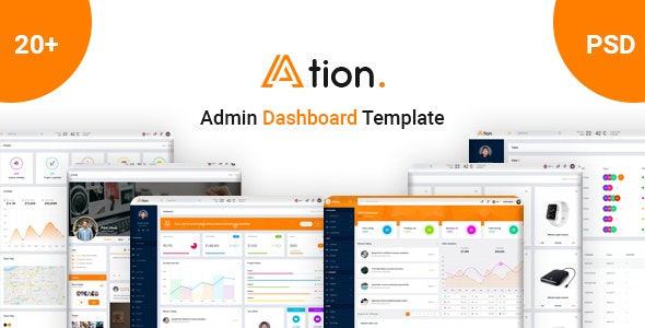 Ation - Admin Dashboard PSD Template - Miscellaneous PSD Templates