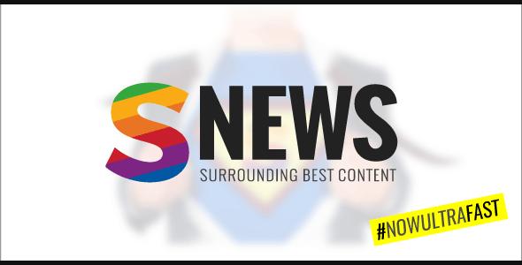 SNEWS    Eye-catching Magazine, Reviews & Newspaper WordPress Theme