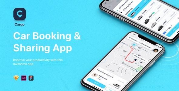 CARGO - Car Booking for Mobile App - Sketch Templates