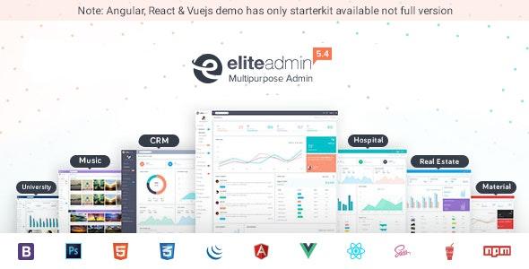 Elite Admin - Bootstrap 4, Angular, React & VueJs  Dashboard Template - Admin Templates Site Templates