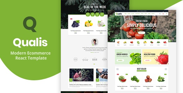 Qualis - Responsive React eCommerce Template - Shopping Retail