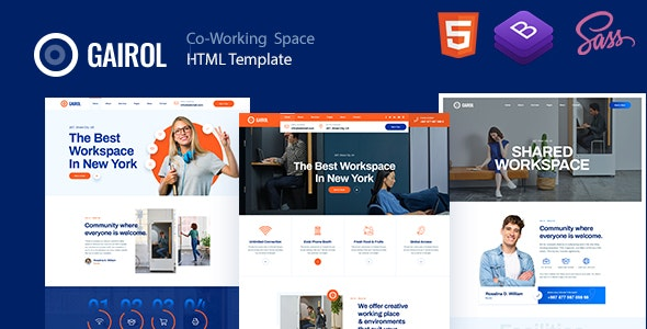 Gairol - Coworking Space HTML5 Template - Business Corporate