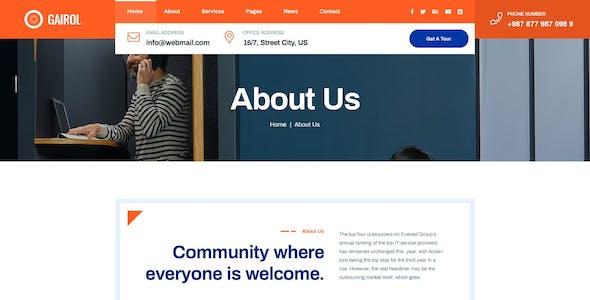 Gairol - Coworking Space HTML5 Template