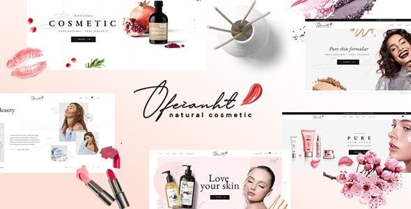 Ofeianht - Natural Cosmetics PSD Template - Health & Beauty Retail