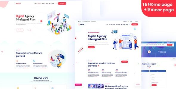 Martun   Business & Digital Agency Template - Portfolio Creative
