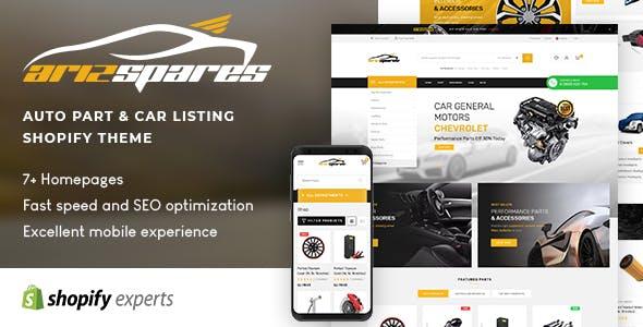 Azirspares - Auto Part & Car Listing Shopify Theme