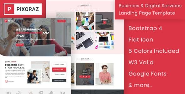 Pixoraz - Business & Digital Services Landing Page - Business Corporate