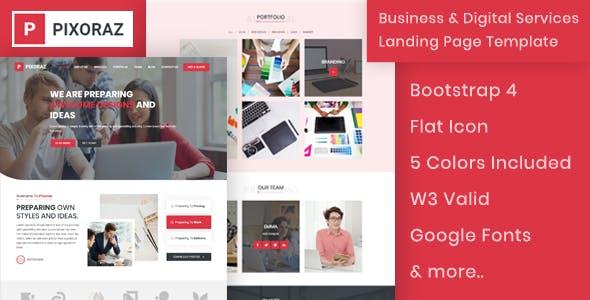 Pixoraz - Business & Digital Services Landing Page