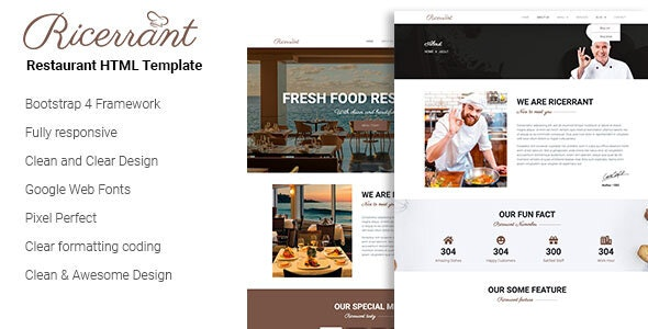 Ricery - Restaurant HTML Template - Site Templates