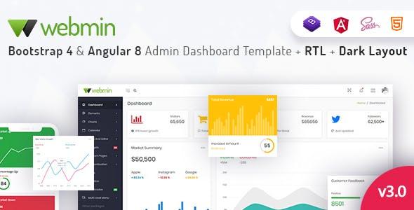 Webmin - Bootstrap 4 & Angular 8 Admin Dashboard Template