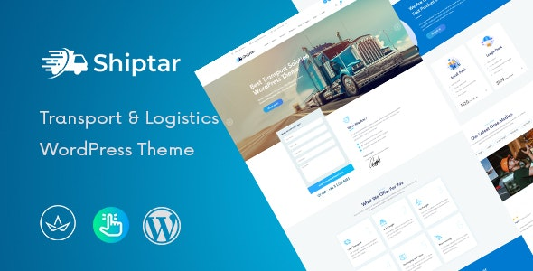 Shiptar - Transport & Logistics WordPress Theme - Business Corporate