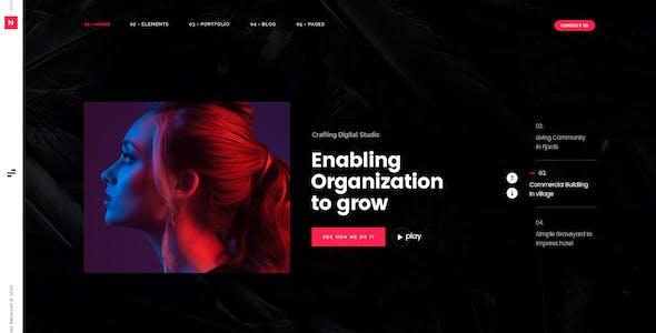 Noob - Agency and Portfolio PSD Template