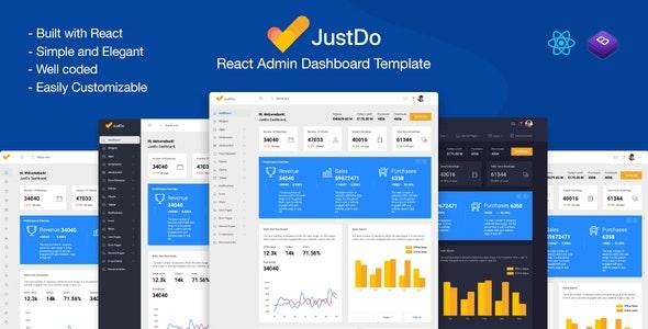 JustDo - React Responsive Admin Template - Admin Templates Site Templates