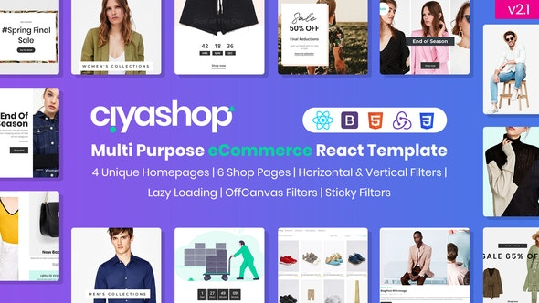 CiyaShop - Multi-Purpose eCommerce React Template - Retail Site Templates
