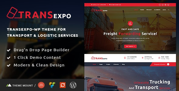 Transexpo - Logistics and Cargo Services WordPress Theme - Business Corporate