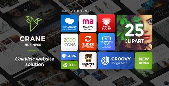 Crane - Responsive Multipurpose WordPress Theme - Business Corporate