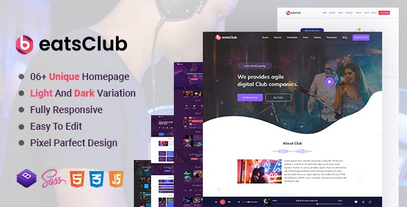 Beatsclub - Nightlife & Event Template - Nightlife Entertainment