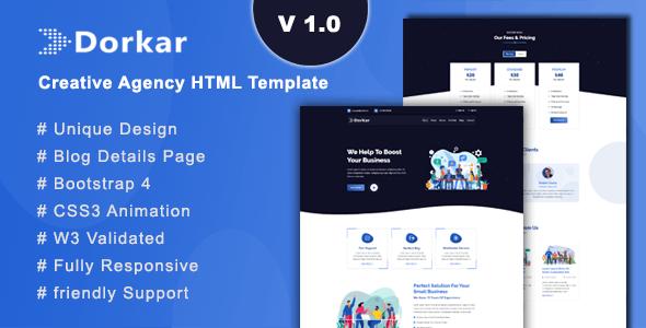 Dorkar - Creative Agency HTML Template - Creative Site Templates