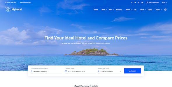 MyTravel - Hotels, Flights & Vacations HTML Template
