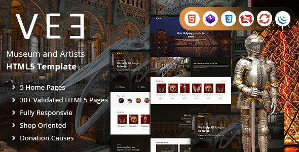 Vee | Museum and Artists HTML Template - Art Creative