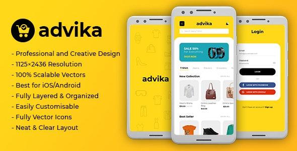 Advika   Ecommerce Mobile App UI - Fashion Retail