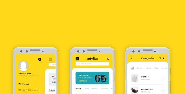 Advika | Ecommerce Mobile App UI