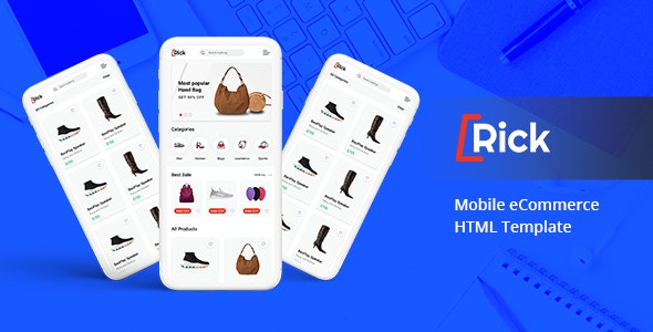 Rick – Mobile eCommerce HTML Template - Mobile Site Templates