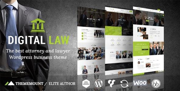 Digital Law | Attorney & Legal Advisor WordPress Theme - Business Corporate