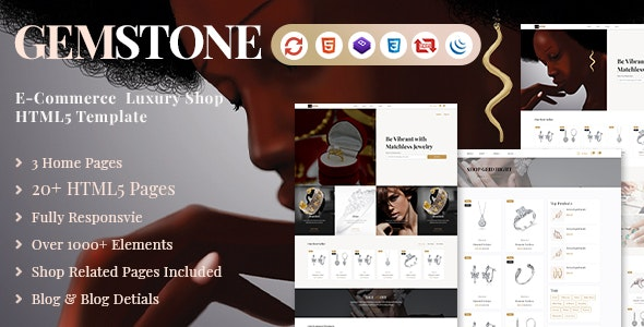 Gemstone | E-Commerce HTML Template - Shopping Retail