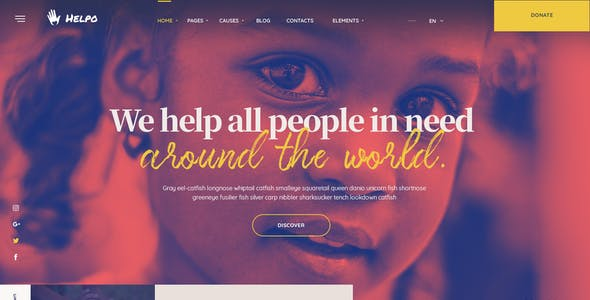 Helpo   Fundraising & Charity HTML Template