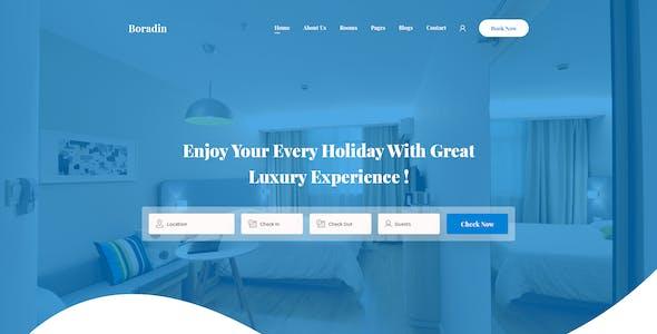 Boradin - Creative Hotel Booking PSD Template