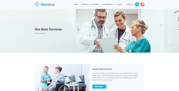 Maxima - Medical Health & Pregnancy Care Clinic PSD Template