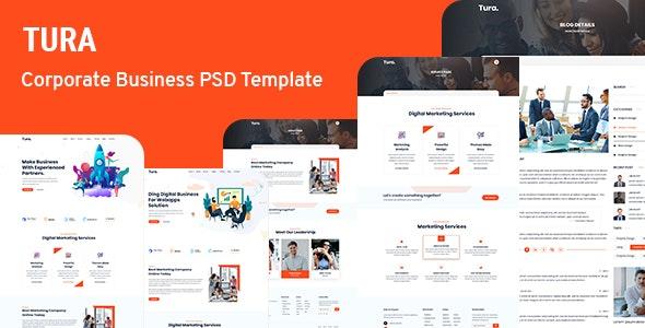 Tura- Corporate Business PSD Template - Corporate PSD Templates
