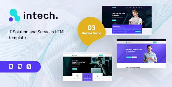 Intech - IT Solutions and Services Company Template