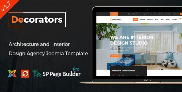 Decorators - Joomla Template for Architecture & Modern Interior Design Studio - Business Corporate