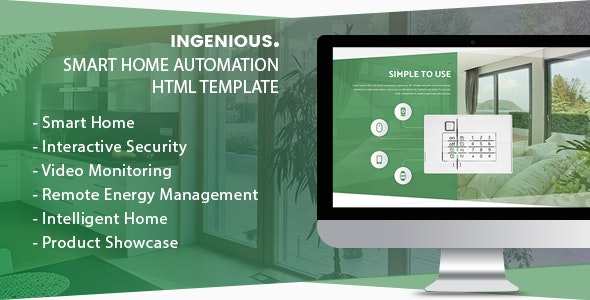 Ingenious - Smart Home Automation HTML Template - Technology Site Templates