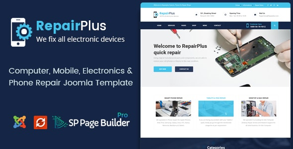 Repair Plus - Phone & Computer Repair Joomla Template - Business Corporate