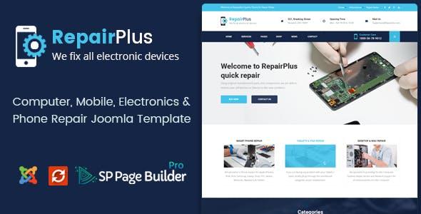 Repair Plus - Phone & Computer Repair Joomla Template