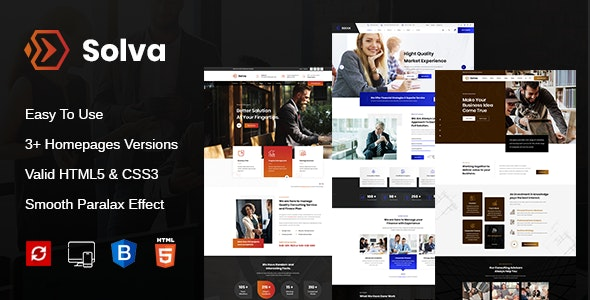 Solva - Consulting Business HTML Template - Business Corporate