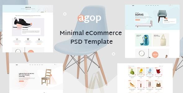 Agop - Minimal  eCommerce PSD Template - Retail PSD Templates
