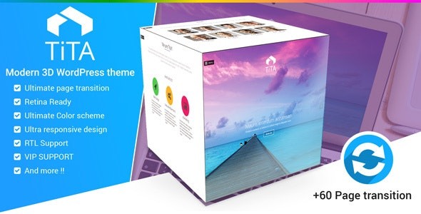 Tita 3D - Modern WordPress Theme - Creative WordPress