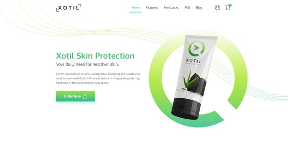 Xotil - Product Landing Page PSD Template