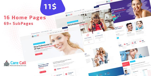 Carecall - Medical and Dental HTML Template