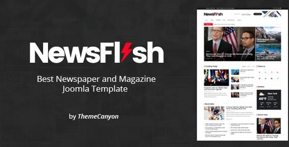 NewsFlash - Joomla News & Magazine Template - Blog / Magazine Joomla