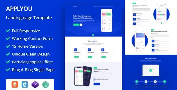 Applyou - App Landing Page - Software Technology