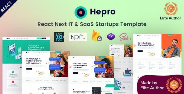 Hepro - React Next IT & SaaS Template - Software Technology