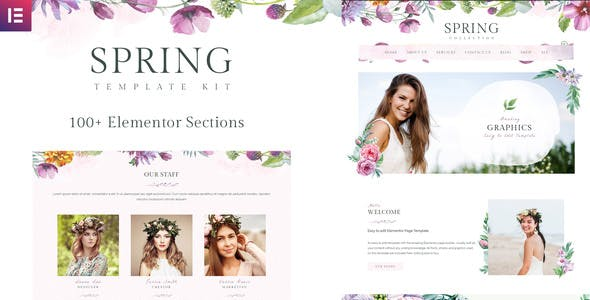 Spring Watercolor and Floral Template Kit