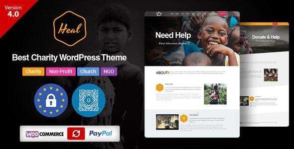 Heal - Multipurpose Charity WordPress Theme - Charity Nonprofit