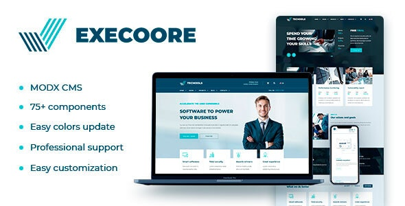 Execoore – Technology And Business MODX Theme - MODX Themes CMS Themes