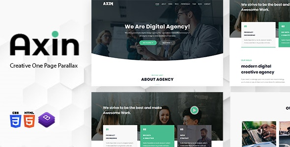 Axin - One Page Parallax - Creative Site Templates